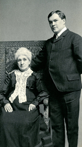James Branch Cabell and his grandmother, 1904