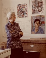 T Pollak and her art work_1975.jpg