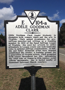 Historic Resources marker Adele Goodman Clark E-104-a adj rsz.jpg