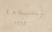 Signature of Edmund A. Rennolds, Jr. on flyleaf of <em>Florence and Some Tuscan Cities,</em> 1905.