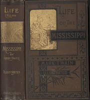 Spine and cover of James Branch Cabell's copy of <em>Life on the Mississippi</em> by Mark Twain, 1883