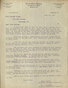 VCU_M 9 Box 167 Art Club of Richmond letter to Harriet Jones June 12 1911 rsz.jpg